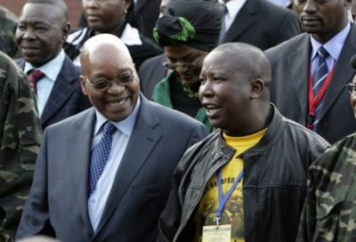 Jacob Zuma con Julius Malema